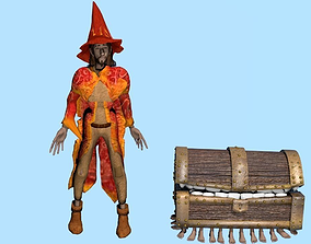 3D asset Wizard Rincewind and Luggage