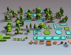 3D asset Park Set