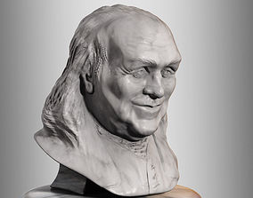 3D Benjamin Franklin Bust