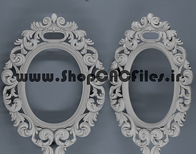 relief carved mirror 3d model