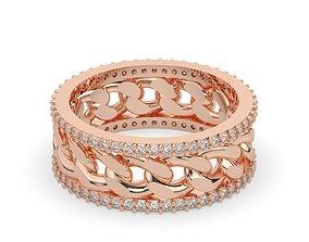 diamond cuban chain ring 3D printable model