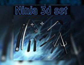 Ninja set 3D model