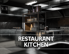 3D model Restaurant Kitchen Asset Pack - 58 Game-Ready