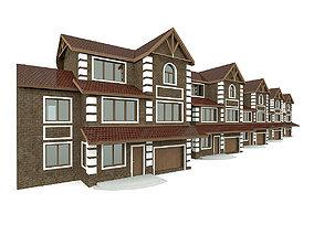 Modular Townhouse Rowhouse 3D model