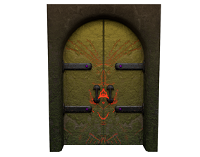 Fantasy Door 3D asset