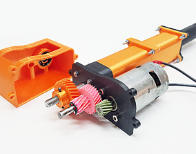 3d 3D printable Linear Actuator