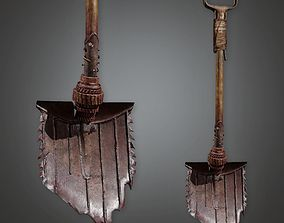 3D asset Modded Shovel 01a - PAM - PBR Game Ready