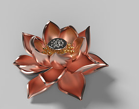 Lotus Brooch tree 3D print model