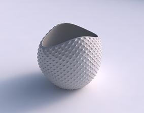 3D printable model Bowl compressed 3 with grid piramides