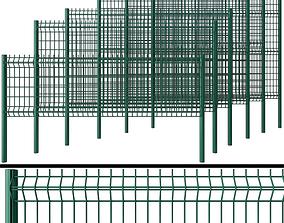 metal 3D model Metal Wicket fence