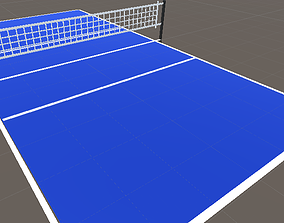3D model low-poly Volleyball Court