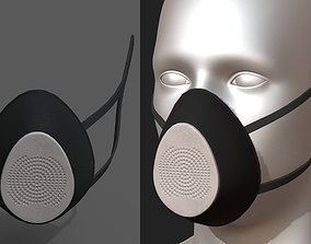3D model Gas mask respirator scifi technology