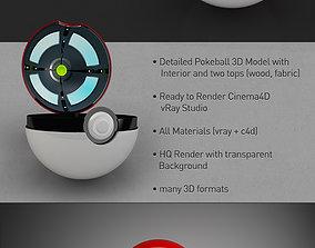 3D asset Pokeball with interior