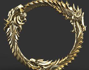 Elder Scrolls Ring 3D Printing hard