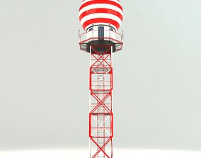 3D Airport Weather Radar Tower