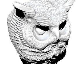 Owl detailed 3D print model