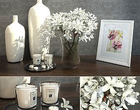 3D model Decorative Set of Flowers