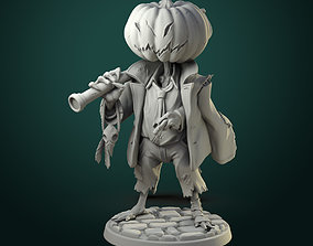3D printable model Pumpkin Scarecrow 32mm - 75mm