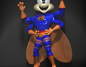 Supercigale Cartoon Character Rigged 3D asset