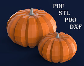 Pumpkin for 3D printing and assembly from pepakura paper