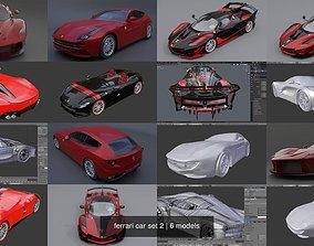 ferrari car set 2 3D model