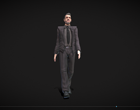 3D model Middle-aged Man with Suit