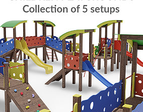 Children Playground Collection 3D model