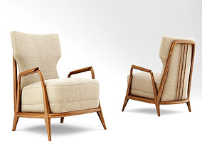 Giuseppe Scapinelli Lounge Chair 3D