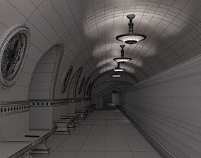 3D Spacious Tram Station