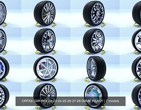 ORTAS CAR RIM 22-23-24-25-26-27-28 GAME READY 3D