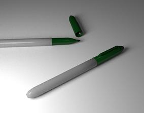 Green Markers 3D asset