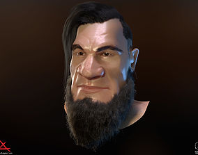 3D asset PBR Realtime cartoon character game hair