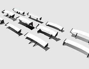 Low Poly Spoilers 3D model