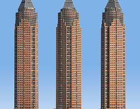 3D model MesseTurm Skyscraper Detailed and Low Poly Set