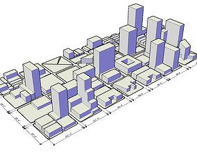 Low-Poly Modular City 3D model