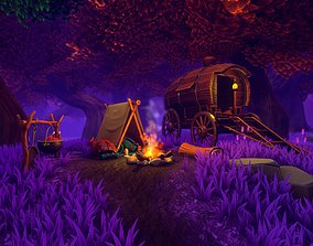 3D asset Stylized Fantasy - Magic Campsite