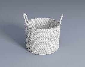 3D model White decorative basket