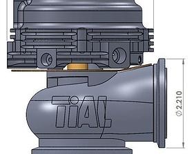 Tial turbo wastegate 3D model