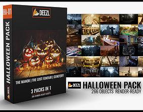 Halloween Pack - 3 in 1 3D model realtime