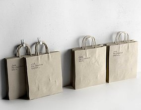 Recycled Paper Bag 3D