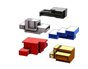5 minimalist house designs 3D printable model