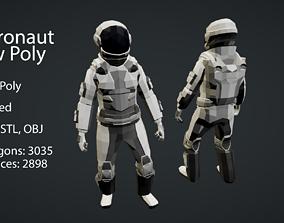 3D asset Astronaut Low-Poly Model