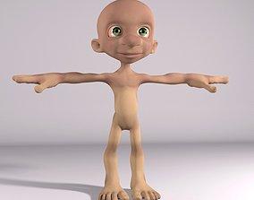 3D asset Hobbit Gollum character Rigged Maya