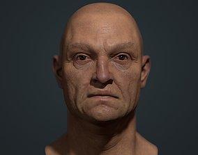 3D asset Old man Marmoset Project