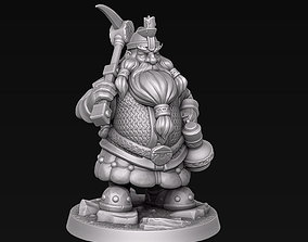 3D printable model Dwarf miner