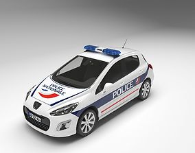 car 3D model Police Car