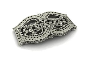 Buckle with ornament 3D print model