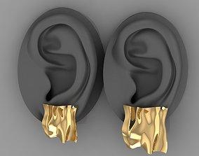 crushed gold earrings 0151 3D print model