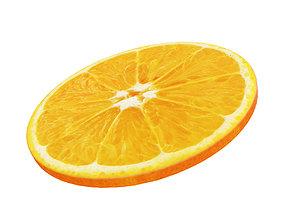 food 3D model Orange round slice