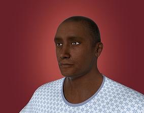 3D Old African Man - Patient